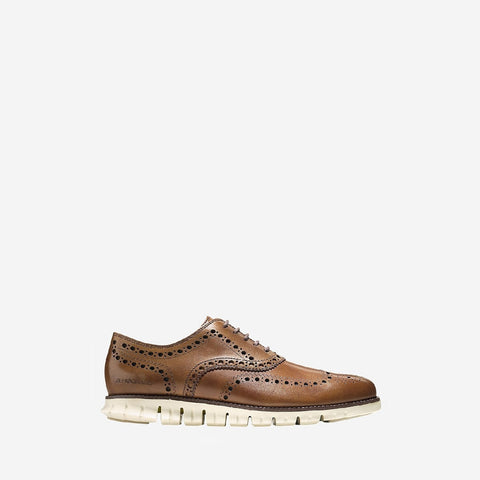 Men's ZERØGRAND Wingtip Oxford Tan
