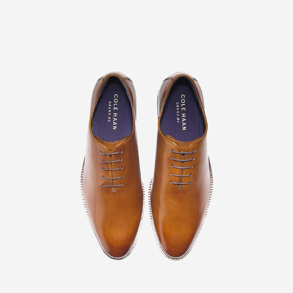 Tan Washington Grand Wholecut Oxford Shoe