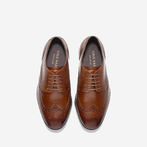Tan Jefferson Grand Wingtip Oxford Shoe