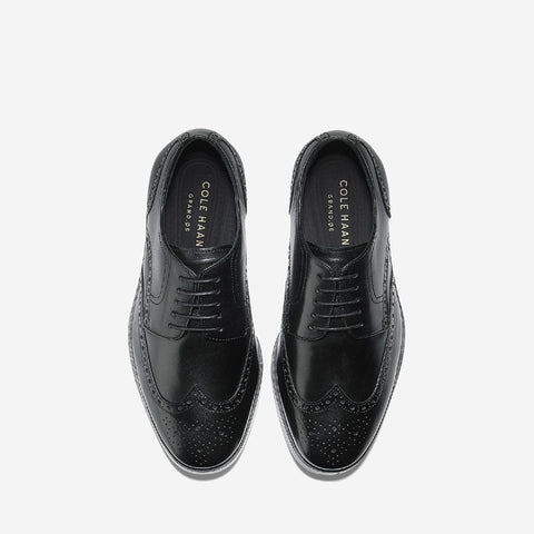 Black Jefferson Grand Wingtip Oxford Shoe