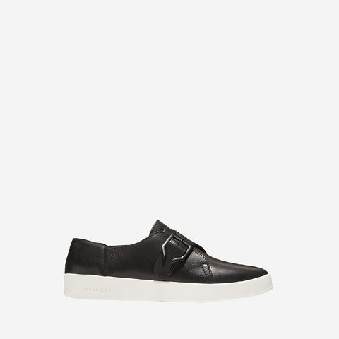 Black/Optic White Grandpro Spectator Monk Slip On Shoe