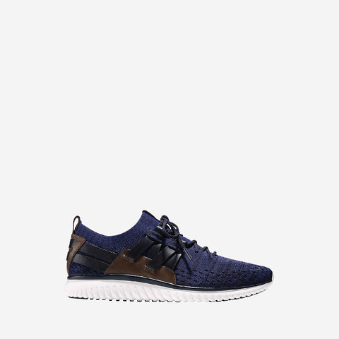Navy Ink/Peony/Brit Tan/Opt Grand Motion Stitchlite Woven Lace Up Trainer
