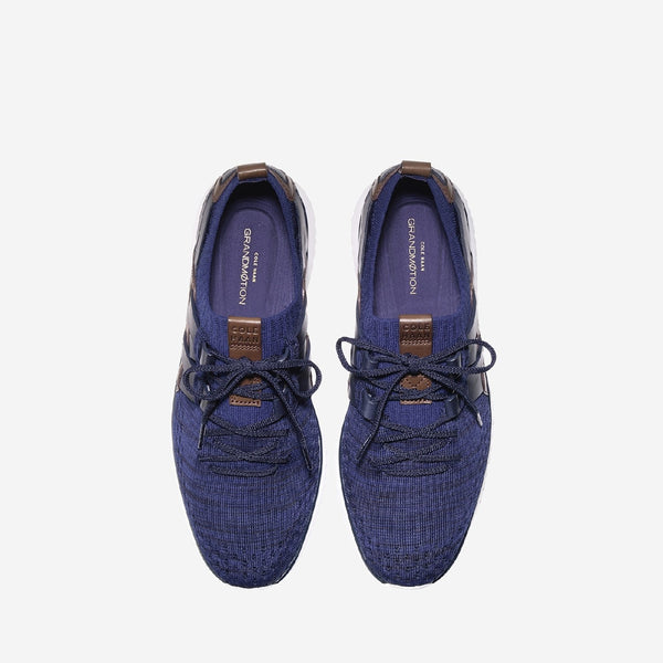 Men's Grand Motion Stitchlite Woven Lace Up Trainer Navy Ink/Peony/Brit Tan/Opt