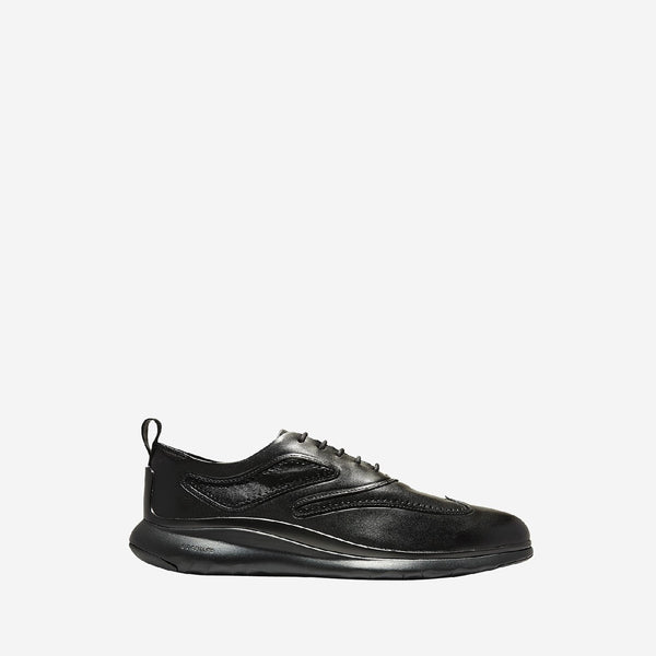 Men's 3.Zerogrand Wingtip Oxford Lace Up Shoe Black/Black Chassis