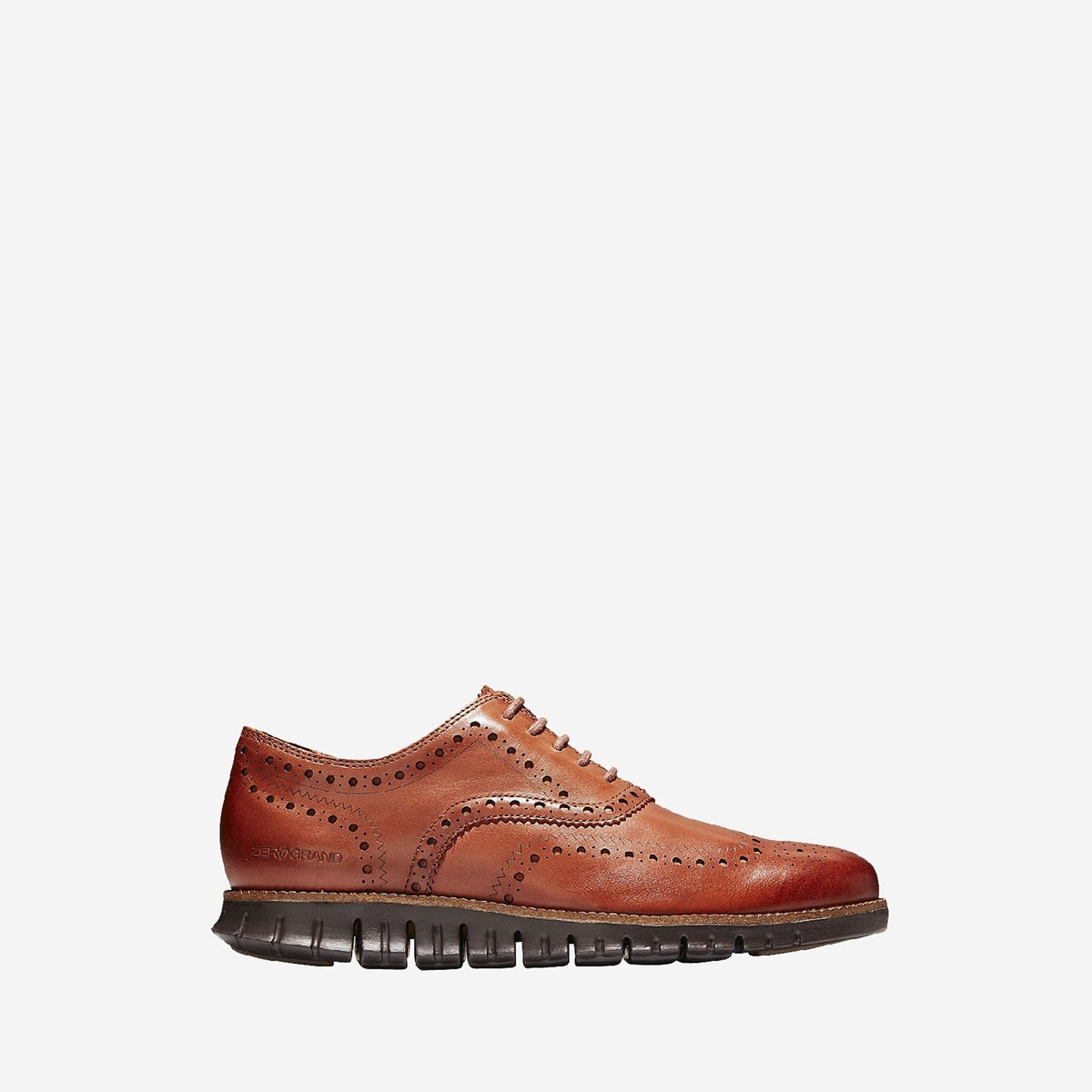 Men's ZERØGRAND Wingtip Oxford Leather British Tan