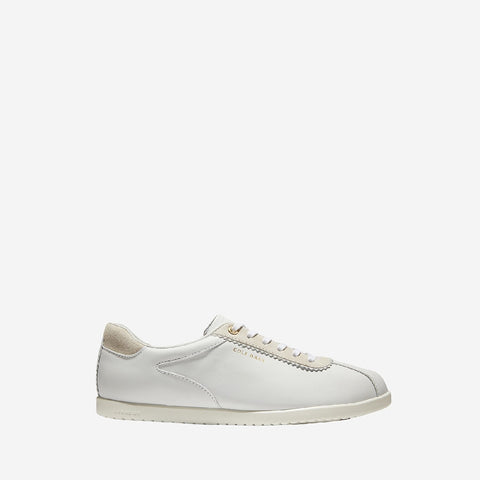 Women's Grandpro Turf Lace Up Trainer Optic Leather/Chalk/Optic
