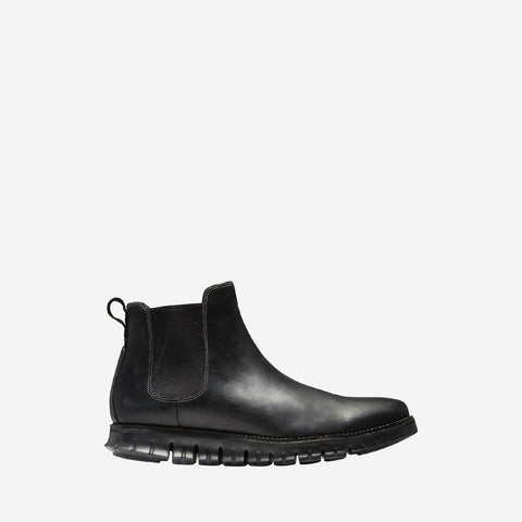 Men's ZERØGRAND WR Chelsea Elasticated Boot Black/Black