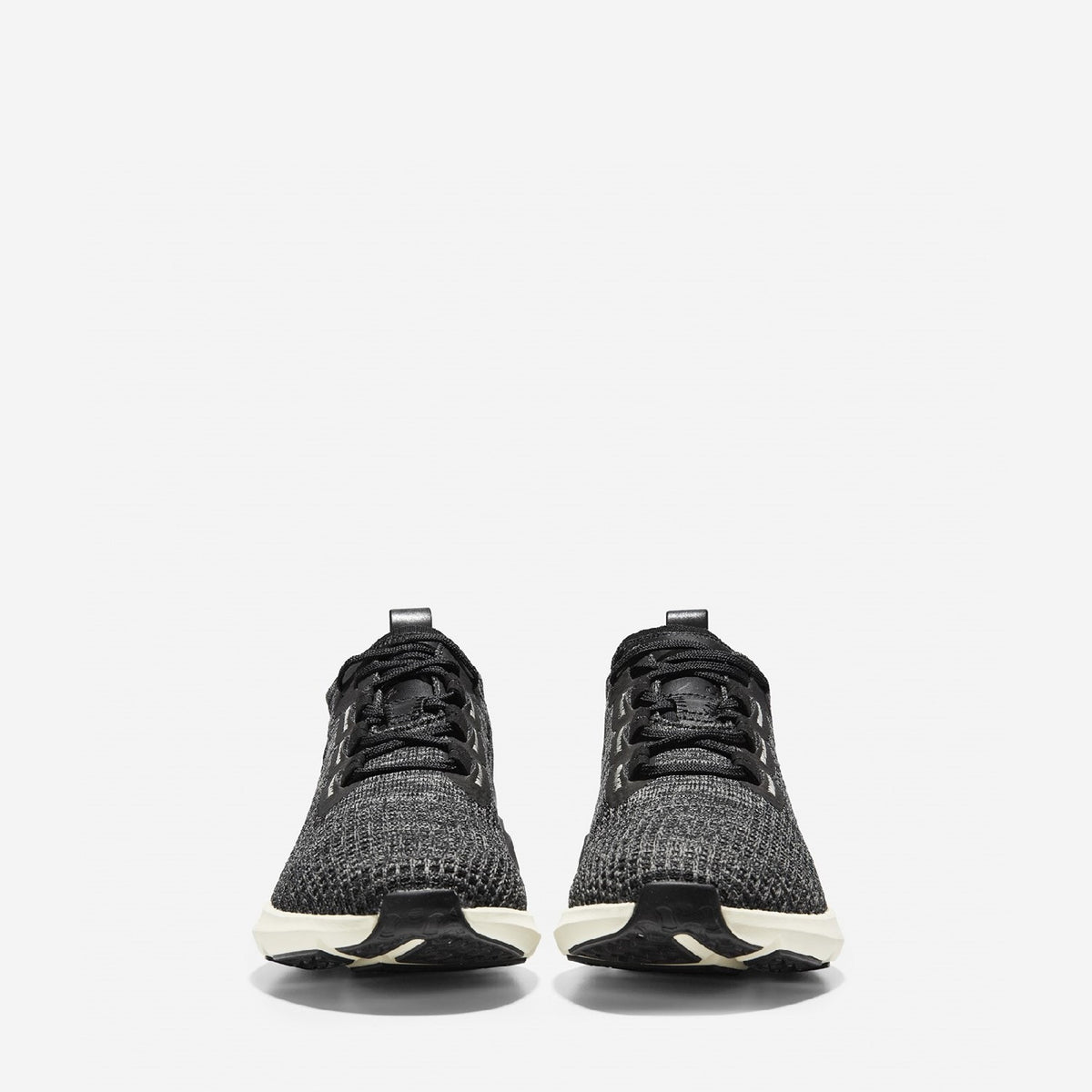 Men's ZERØGRAND All-Day Lace Up Runner Black/Gunmetal Knit