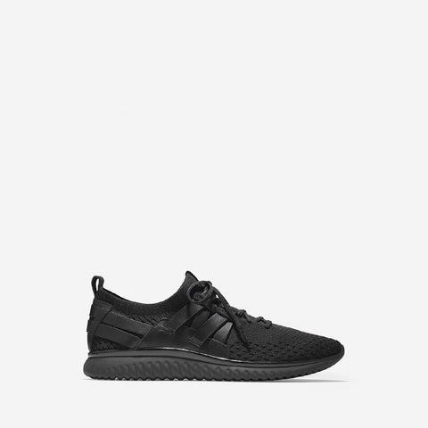 Men's Grand Motion Wovenstitch Lace Up Trainer Black/Black