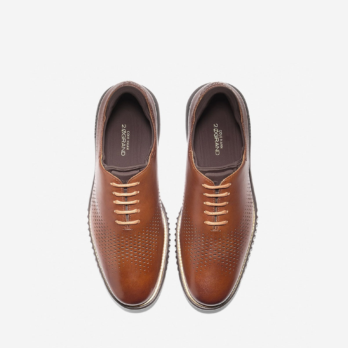 Men's 2.ZERØGRAND Laser Wing Oxford Lace Up Shoe Britsh Tan/Java