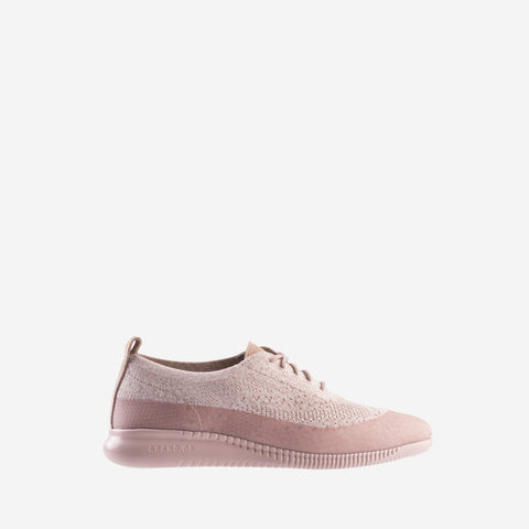 Women's 2.ZERØGRAND Stitchlite Oxford Lace Up Water Resistant Shoe Pink