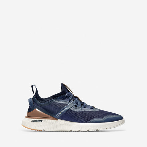 Men's ZERØGRAND Overtake Runner Marine Blue/British Tan
