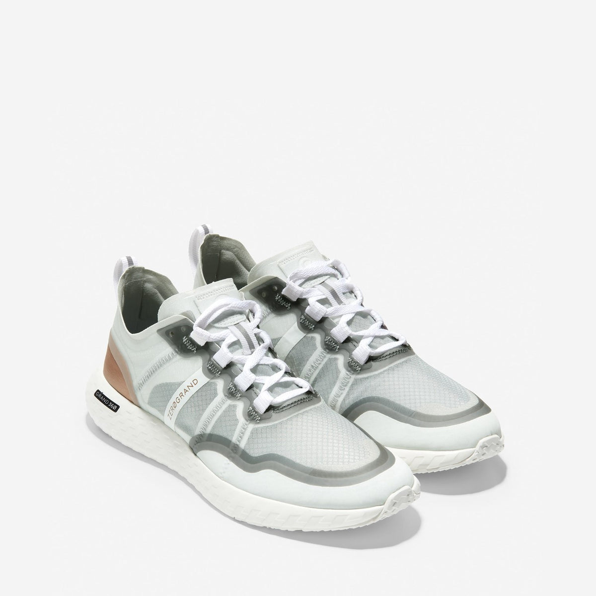 Women's ZERØGRAND Outpace Runner Optic White/Rose Gold