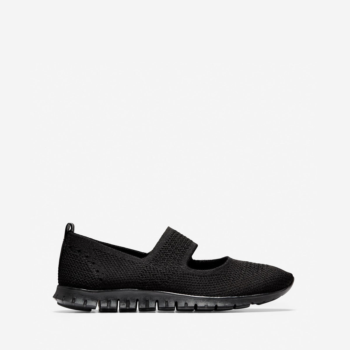 Women's ZERØGRAND Stitchlite Slip On Shoe Black Knit/Black