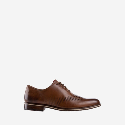 Men's Washington Grand Laser Wing Oxford Shoe Tan