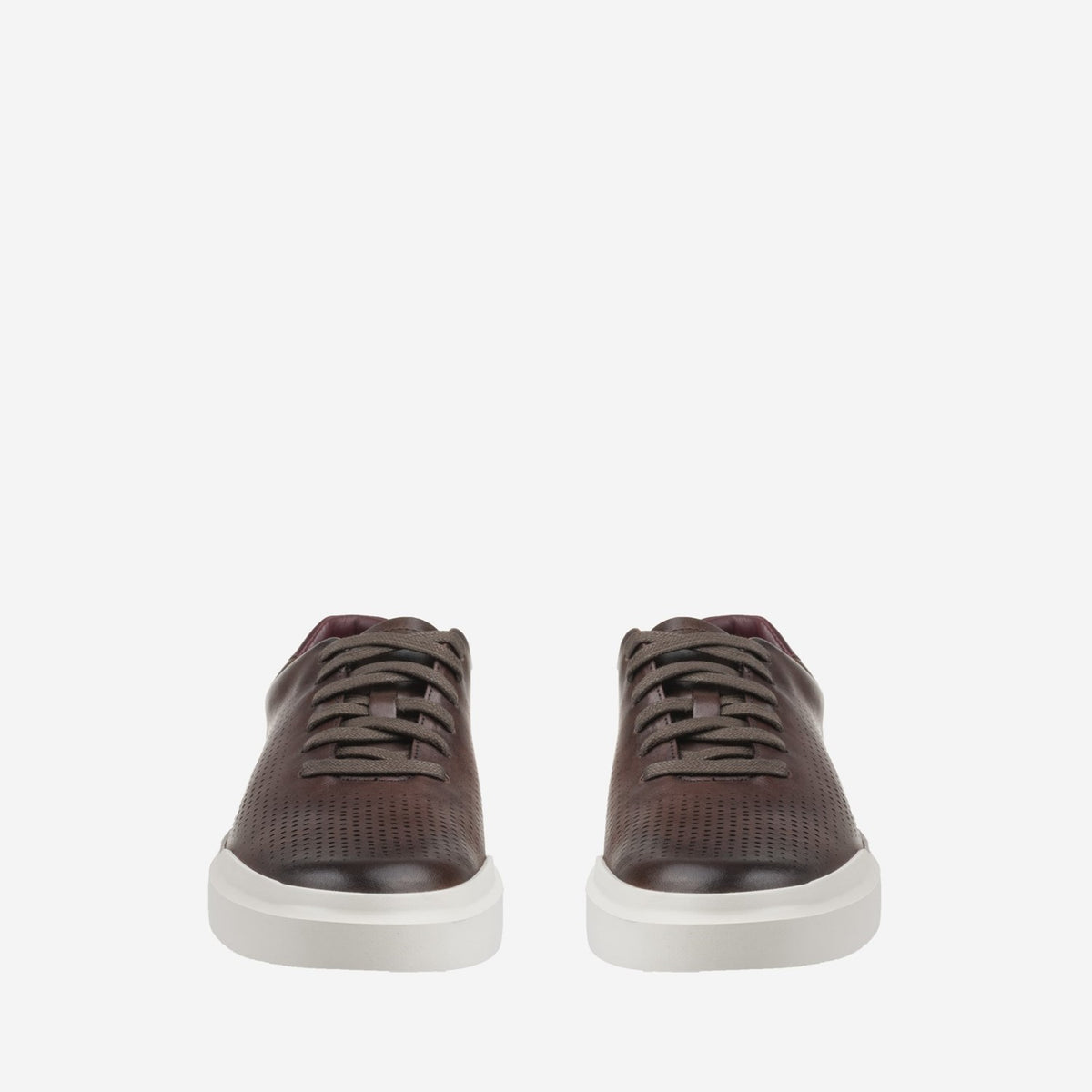 Men's GrandPrø Rally Laser Cut Trainer Tawny Port Handstain