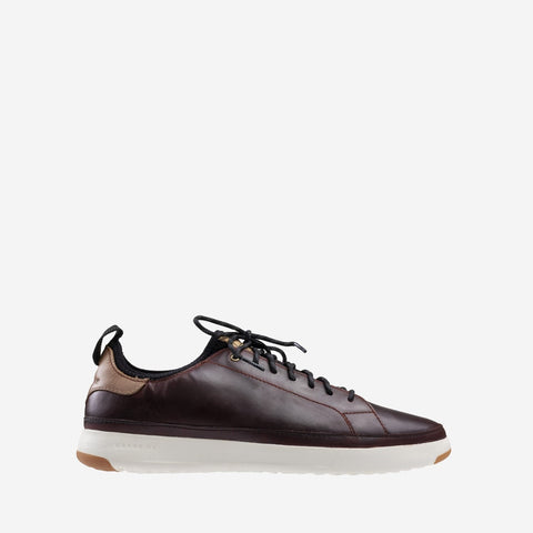 Men's GrandPrø Tennis Waterproof Trainer Deep Mahogany/Tan