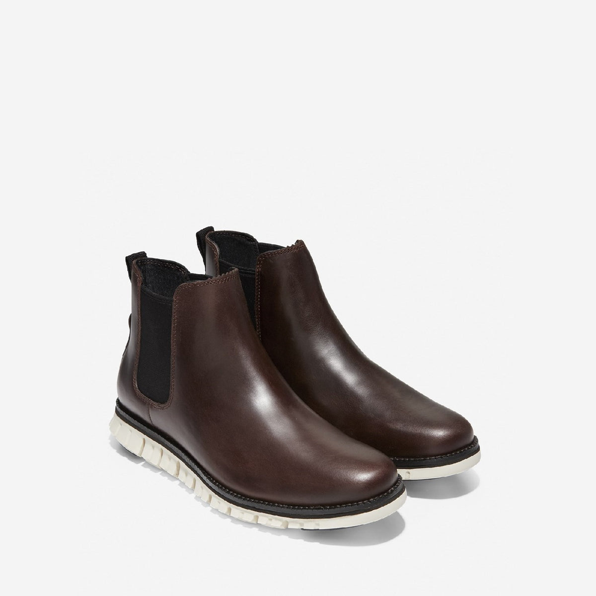 Men's ZERØGRAND WP Chelsea Boot Chestnut Leather/Ivory