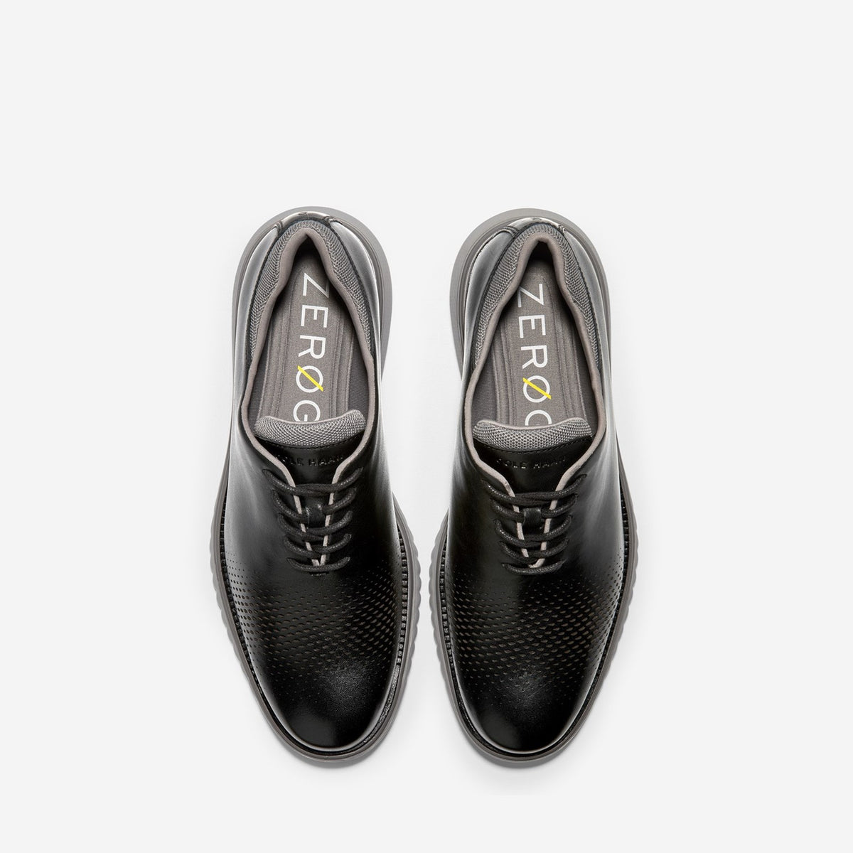 Men's ZERØGRAND Eon Wingtip Oxford Black/Ironstone