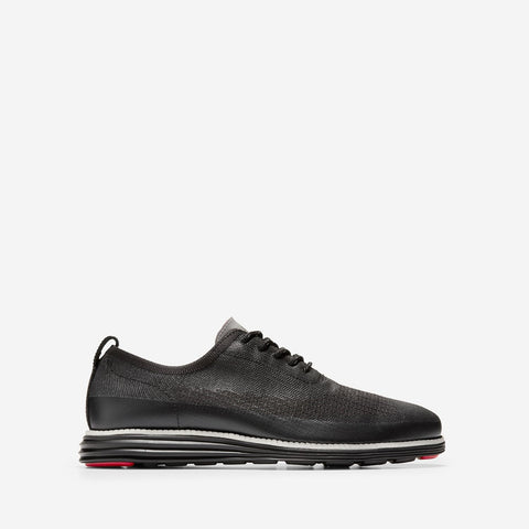 Men's ØriginalGrand Stitchlite Wingtip Oxford Black Knit/Matte Shine WR