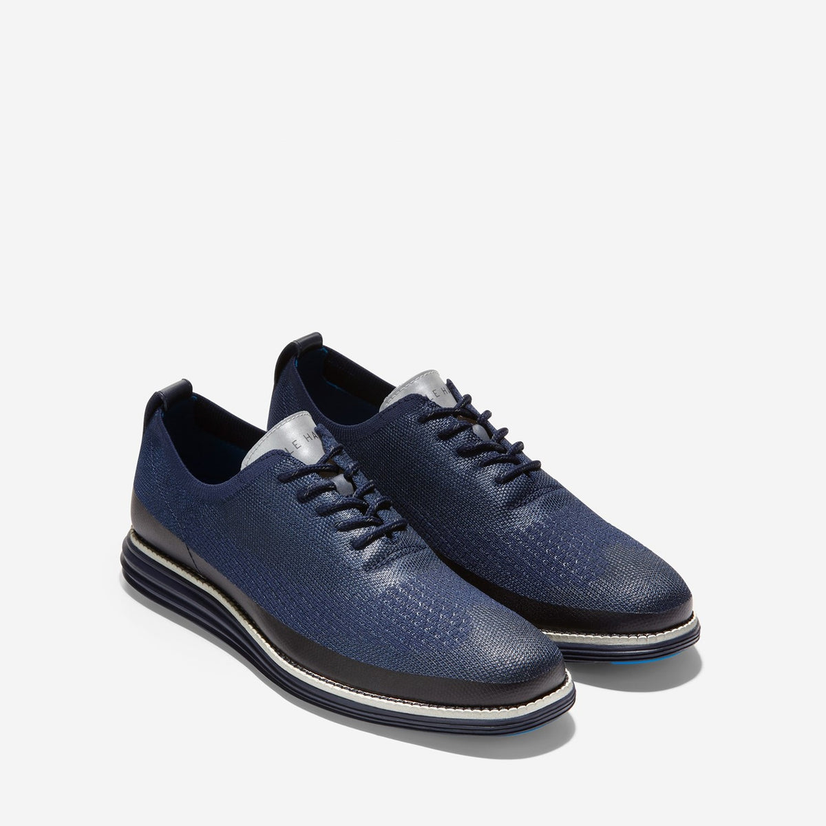 Men's ØriginalGrand Stitchlite Wingtip Oxford Marine Blue Knit/Matte Shine