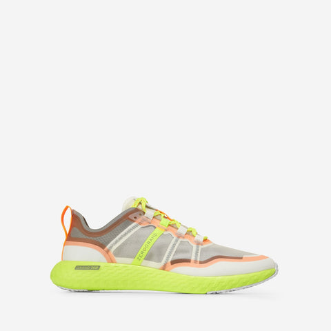 Men's ZERØGRAND Outpace Runner Grey/Yellow