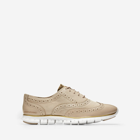 Women's ZERØGRAND Wingtip Oxford Closed Hole II Rye