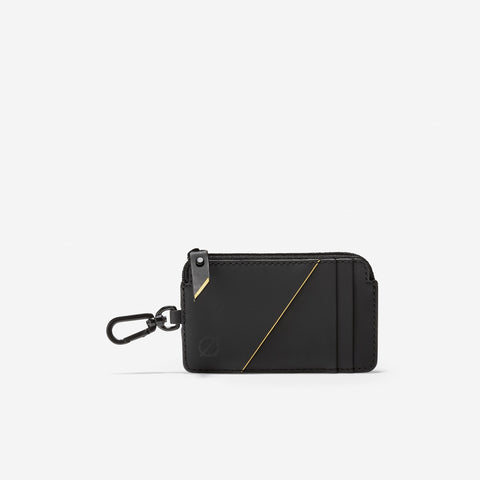 Men's ZERØGRAND Card Case W/Key Ring Black