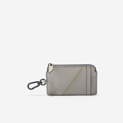 Women's ZERØGRAND Card Case W/Key Ring Grey