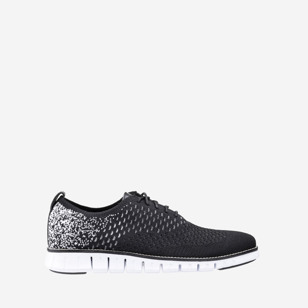 Men's ZERØGRAND Stitchlite Oxford Black/White Ombre Knit