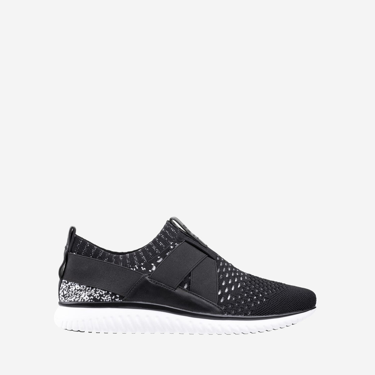 Men's GrandMotion Stitchlite Slip On Trainer Black/White Ombre Knit