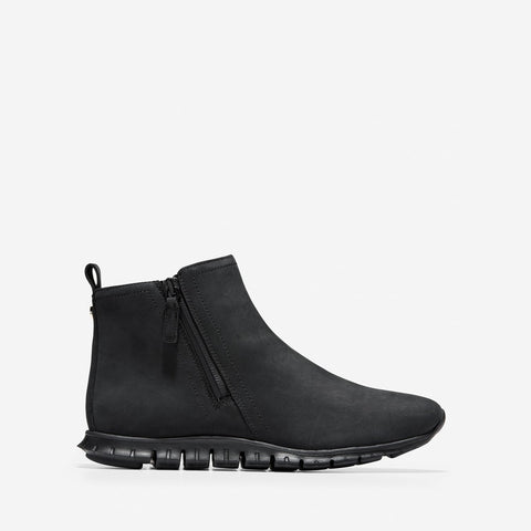 Women's ZERØGRAND Side Zip Ankle Boot Black/White