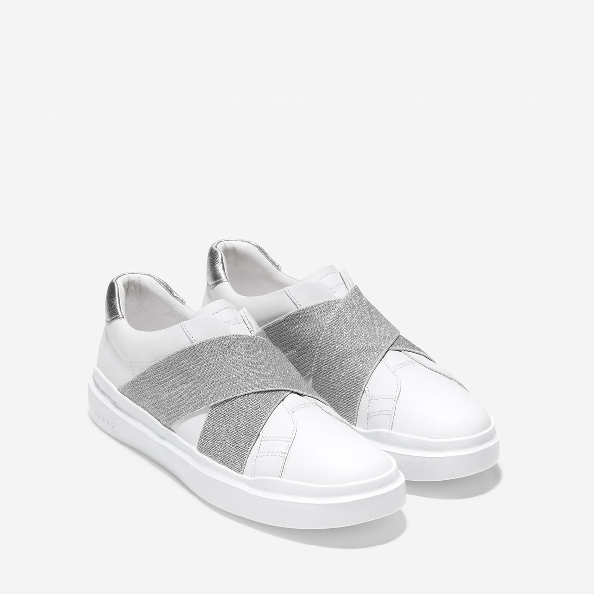 Women's GrandPrø Rally Slip-On Trainer Optic White/Silver