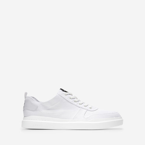 Men's GrandPrø Rally Canvas Court Trainer Optic White Canvas