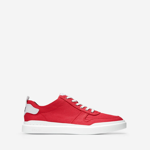 Men's GrandPrø Rally Canvas Court Trainer Tango Red Canvas/Optic White
