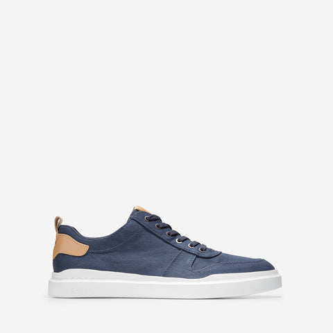 Men's GrandPrø Rally Canvas Court Trainer Indigo