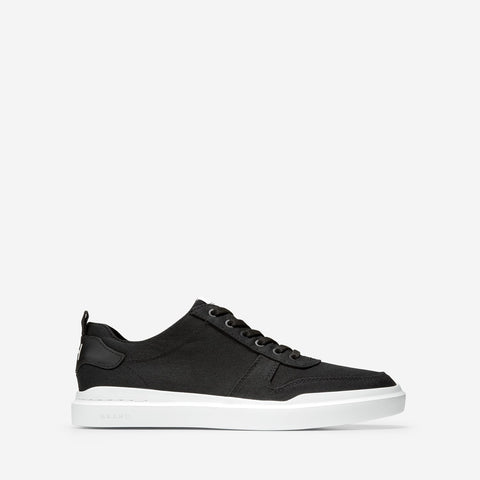 Men's GrandPrø Rally Canvas Court Trainer Black Canvas/Optic White