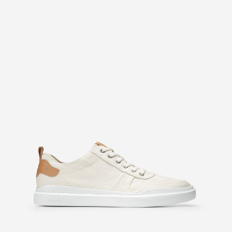 Men's GrandPrø Rally Canvas Court Trainer White