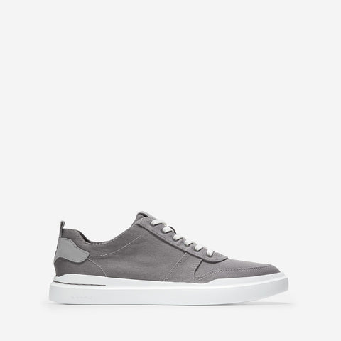 Men's GrandPrø Rally Canvas Court Trainer Grey/White
