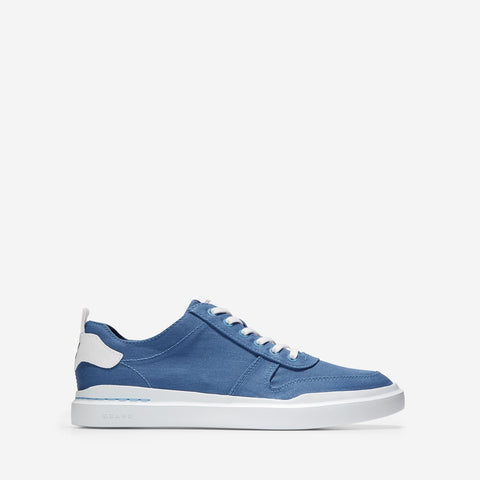 Men's GrandPrø Rally Canvas Court Trainer Blue/White