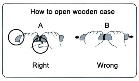 How to open wooden case