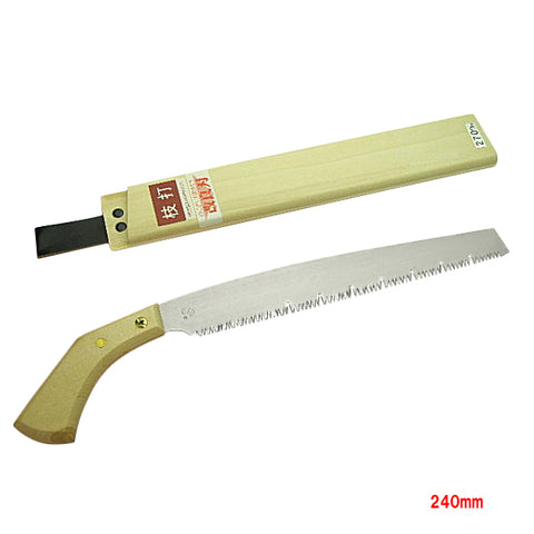 Pruning Hand Saw 240mm (Blade Replaceable) With wooden Sheath for Garden Trees, Hishika' Brand