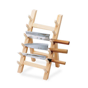 Wooden Knife Stand 6 Piece Japanese style, Knife Block