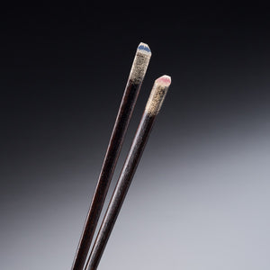 """FUJISAN""(Mt.Fuji) Meoto-Bashi Chopsticks Set for Married Couples with Rest"