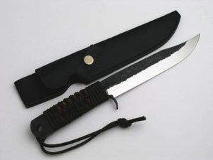 "HONMAMON ""HARIMA MOTOKANE"" Japanese Hatchet Knife (Aogami Steel) with Synthetic Leather Case"