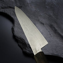 Damascus Chef's Knife with Walnut Handle, V-Gold10
