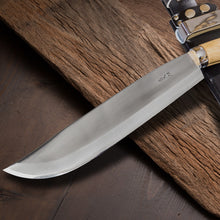 "HONMAMON ""AZUMASYUSAKU"" Polished Hatchet (Outdoor Knife), Blade Edge : Aogami Steel No. 2, Double Bevel, Made in Tosa, Japan"