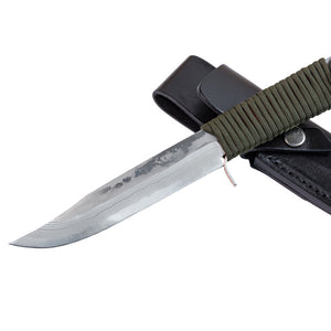 "HONMAMON ""UNRYU"" Japanese Damascus 10 Layers Outdoor Knife, Blade Edge : Aogami Steel"