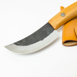 "Skin Peeling Blade 100mm(3.9"") with Original Leather Case, for Wild Boar etc"