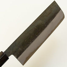 "HONMAMON ""INARI-UMA"" Nakiri Hocho (Kithcen Knife for Vegetables) 165mm, Kurouchi, Blade Edge : Shirogami Steel, Double Bevel"
